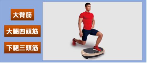 パワーウェーブミニの下半身を鍛える姿勢の画像
