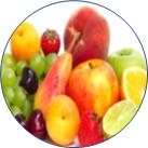 7種類の果実が並んでいる画像