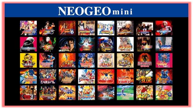 NEOGEO mini」収録作品一覧の画像