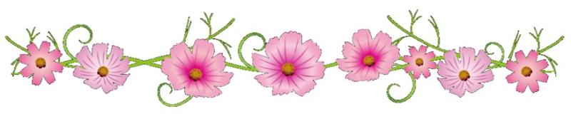 ピンク色の花のイラスト