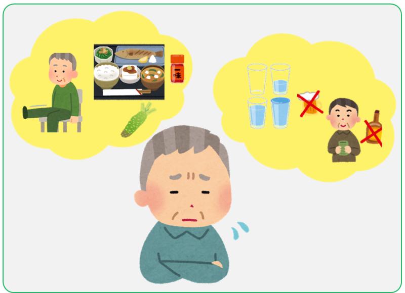 頻尿、尿漏れに悩む男性の表情