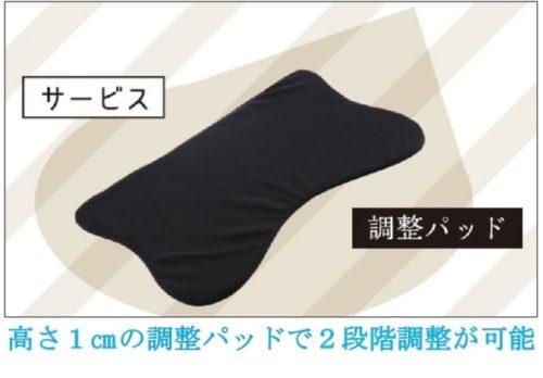 整体枕RAKUNAの高さ調整パッド