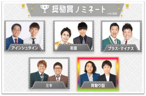 第56回 上方漫才大賞奨励賞ノミネート